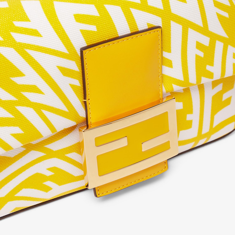 FENDI MINI BAGUETTE 1997 - Yellow glazed canvas bag - view 6 detail