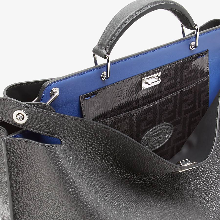 FENDI PEEKABOO ICONIC ESSENTIAL - Gray leather bag - view 5 detail