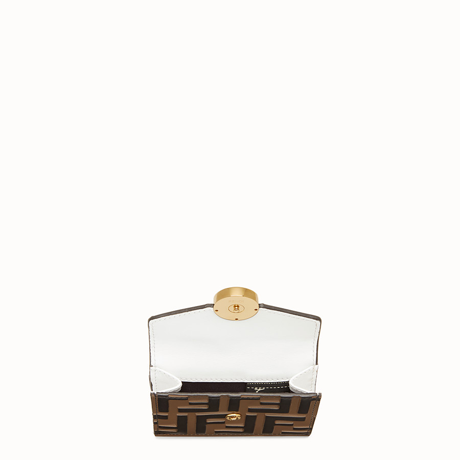 FENDI MICRO TRIFOLD - White leather wallet - view 4 detail