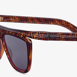 FENDI FFLUO - FF Sonnenbrille in Havannabraun - view 3 thumbnail