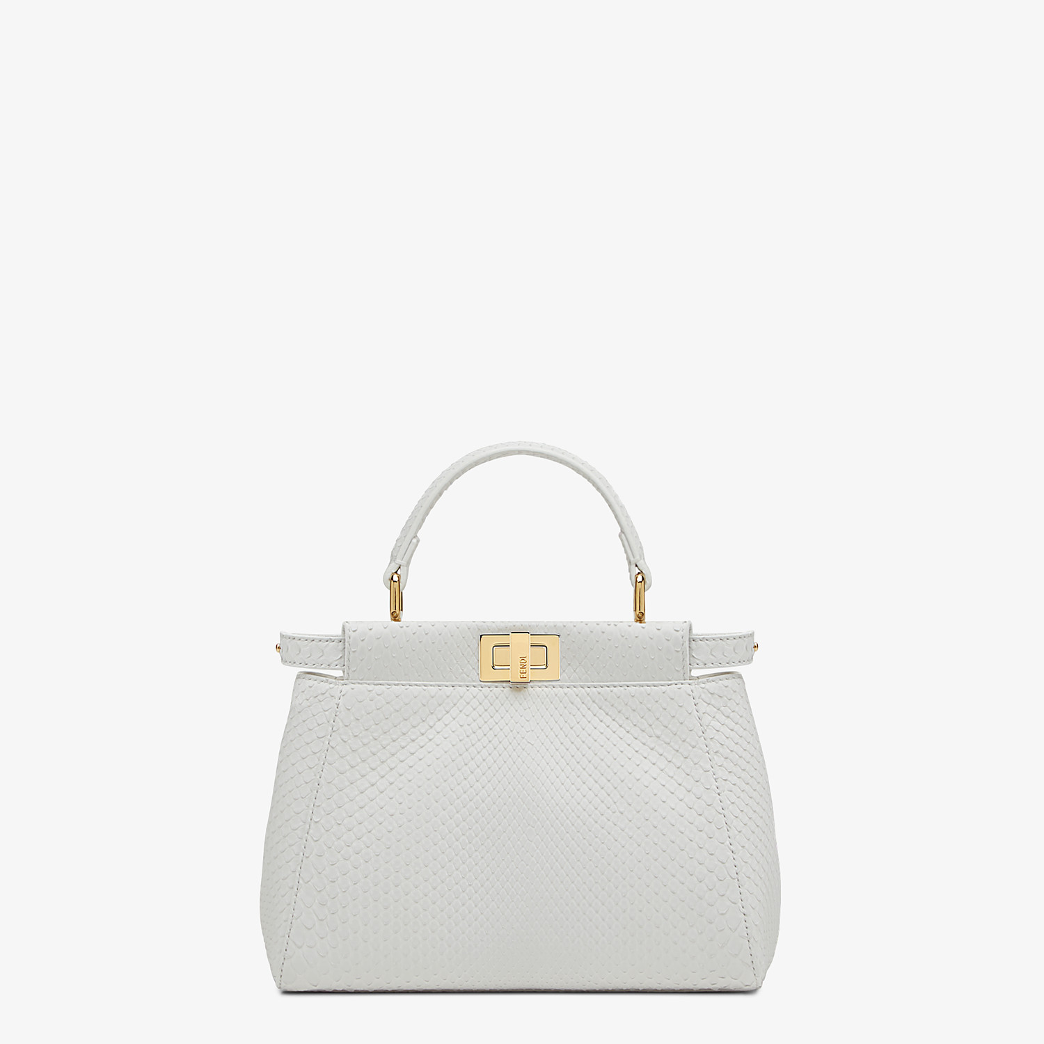 FENDI PEEKABOO ICONIC MINI - White python leather bag - view 1 detail