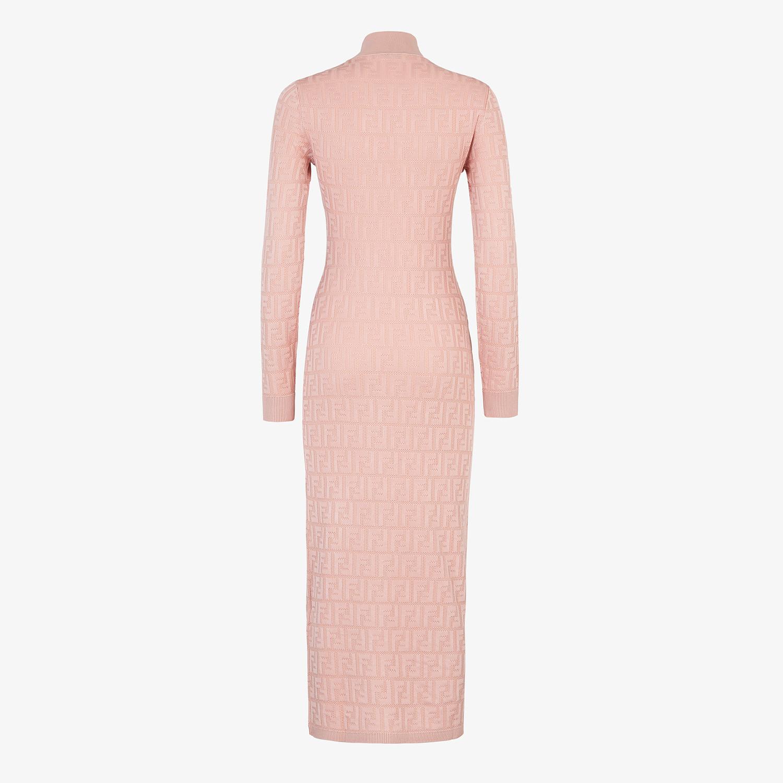 FENDI DRESS - Pink viscose dress - view 2 detail