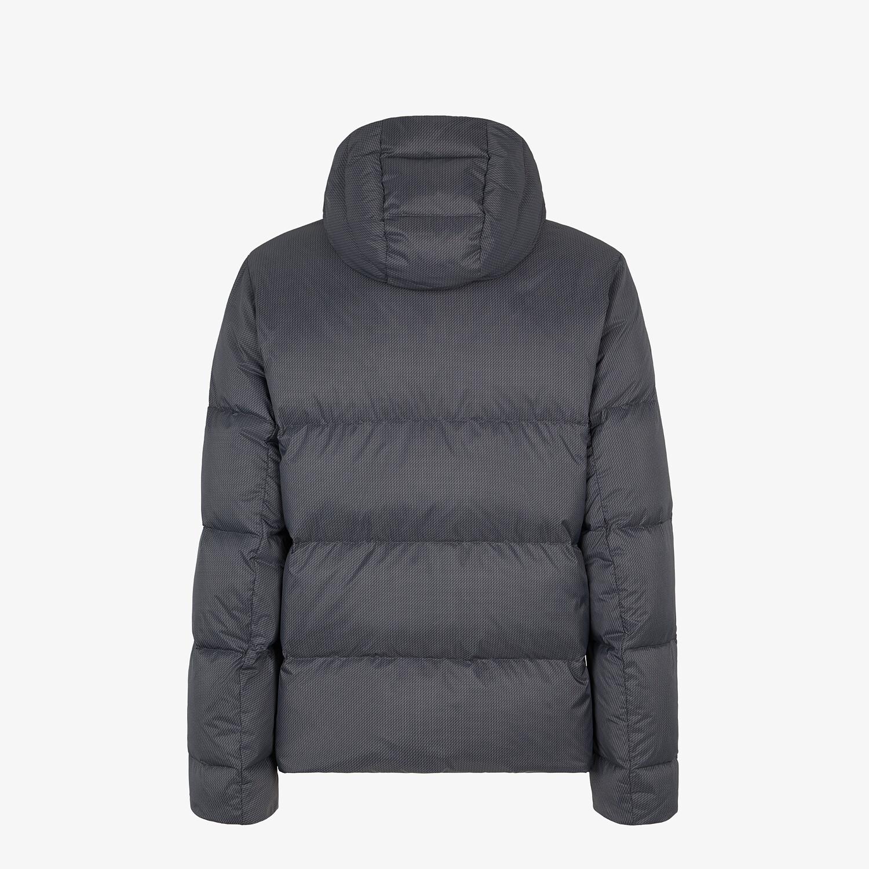 FENDI DOWN JACKET - Gray nylon down jacket - view 3 detail