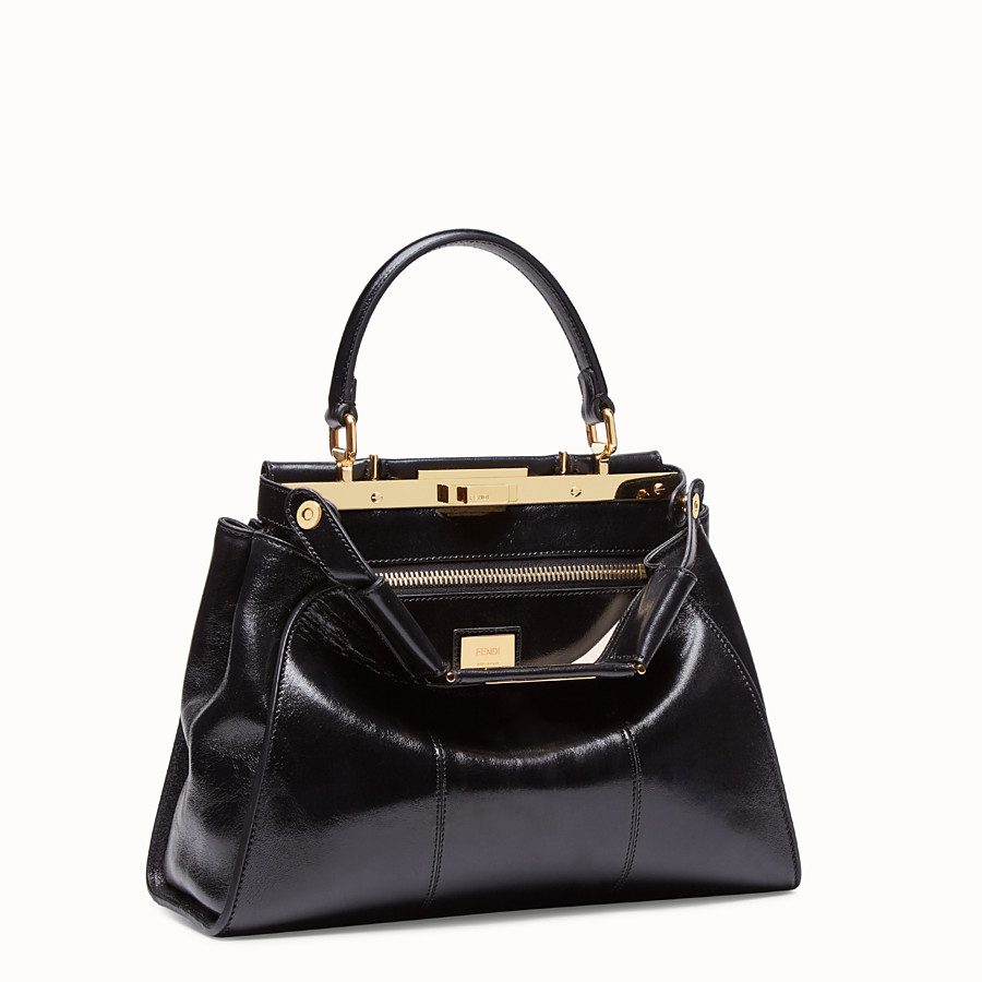 FENDI PEEKABOO ICONIC MEDIUM - Tasche aus Leder in Schwarz - view 4 detail