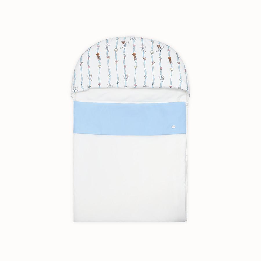 FENDI BABY SLEEPING BAG - Poplin and jersey baby sleeping bag - view 1 detail