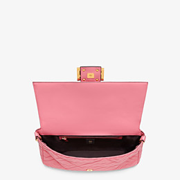 FENDI BAGUETTE LARGE - Pink leather bag - view 5 thumbnail