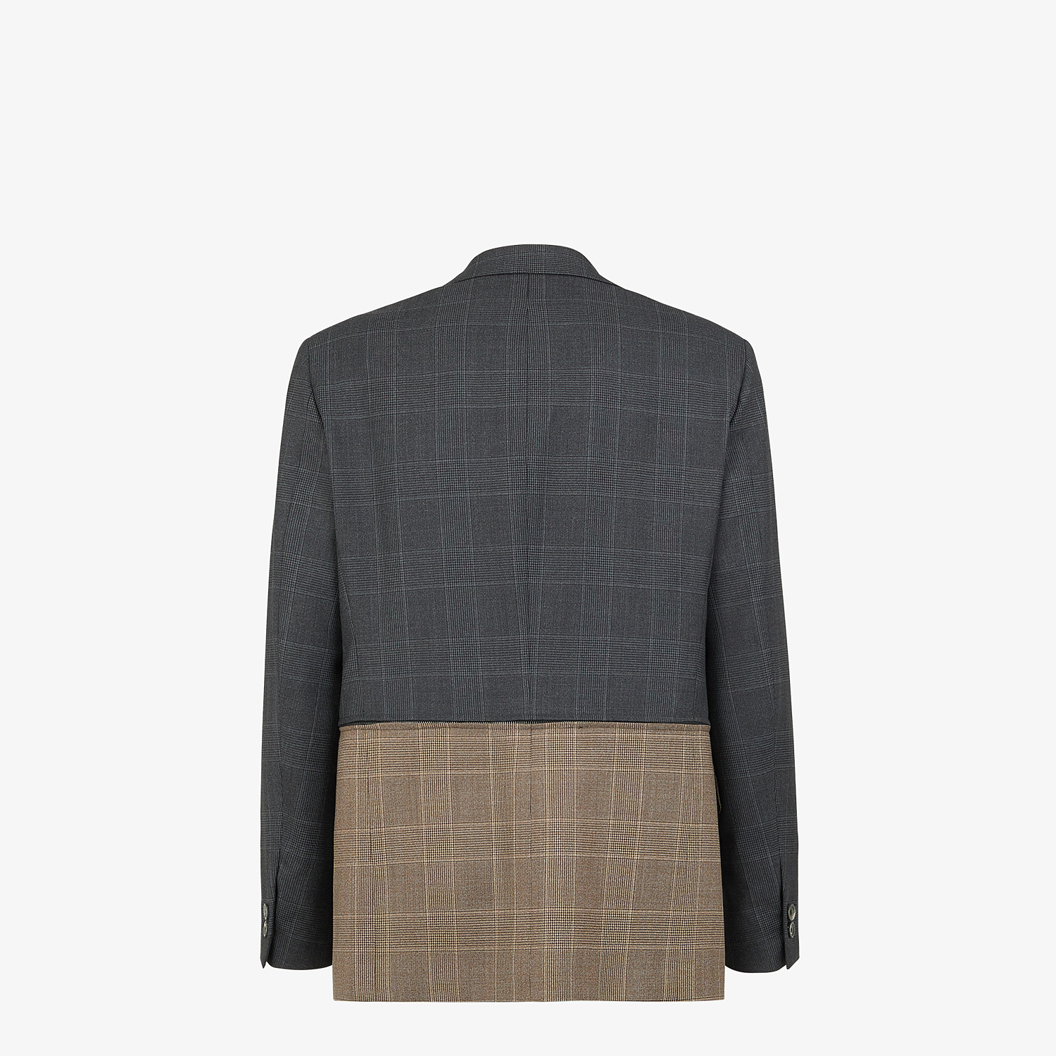 FENDI JACKET - Multicolour Prince of Wales check blazer - view 2 detail
