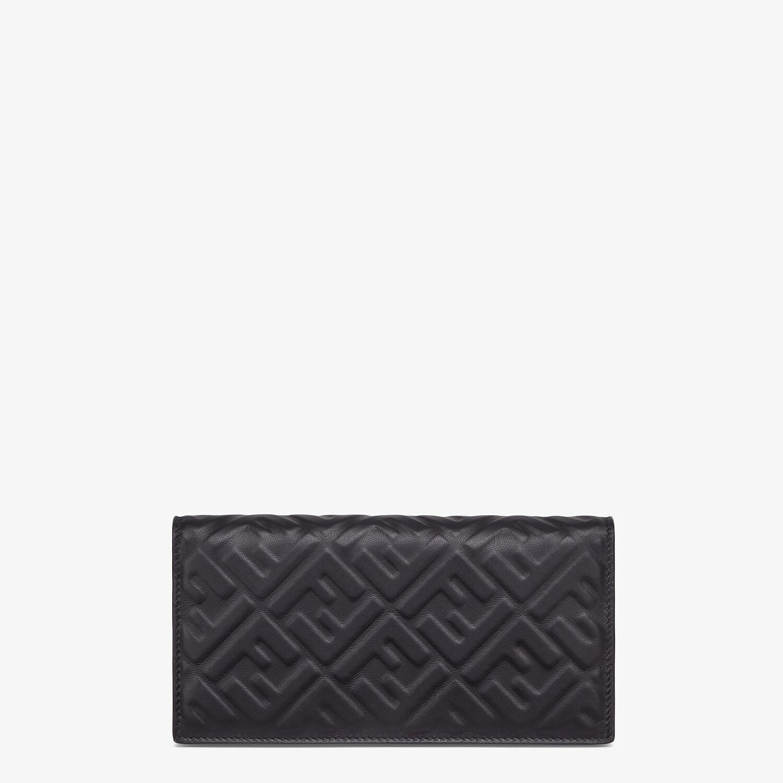 FENDI CONTINENTAL - Black nappa leather wallet - view 1 detail
