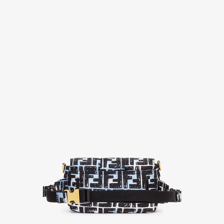 FENDI BELT BAGUETTE SMALL - Nylon FF print bag - view 4 detail