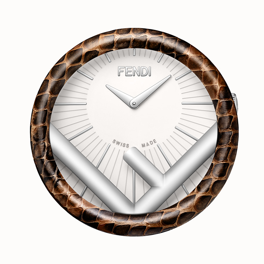 FENDI RUN AWAY TABLE CLOCK - 60 mm - Table Clock with F is Fendi logo - view 2 detail