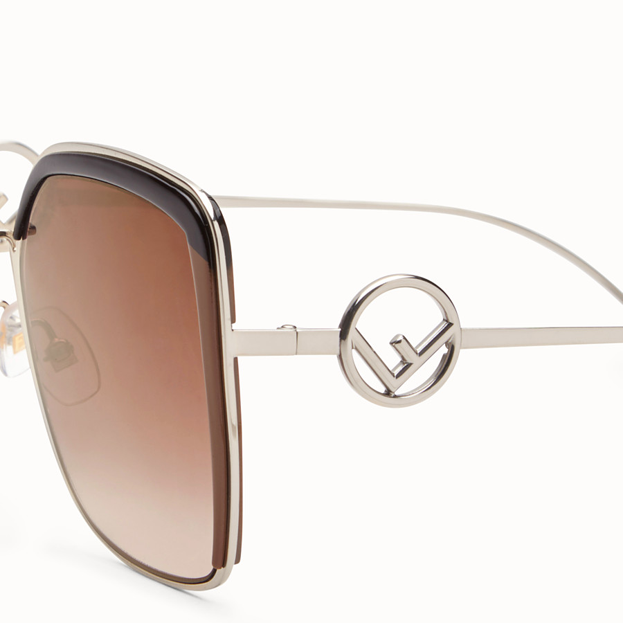 FENDI F IS FENDI - Gold-color sunglasses - view 3 detail