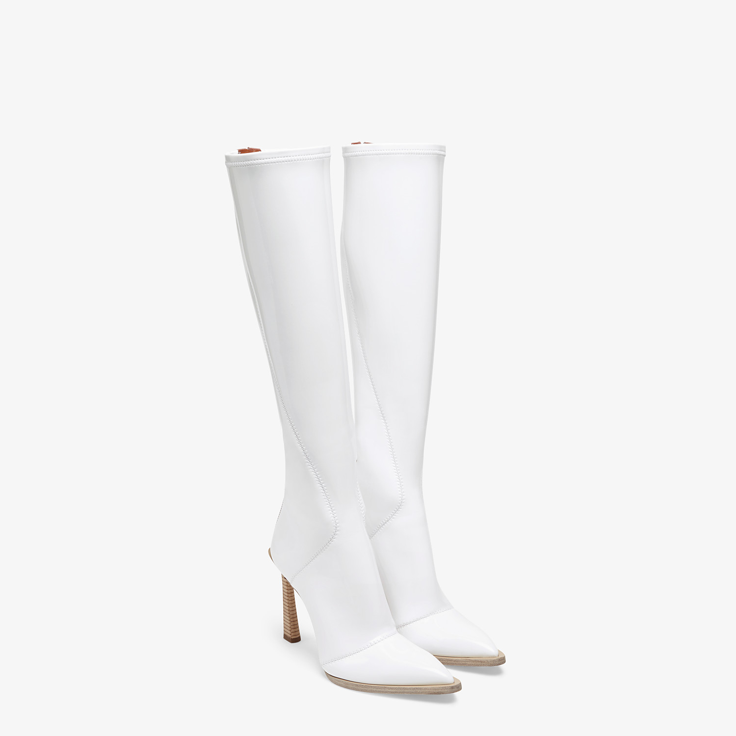 FENDI BOOTS - Boot in glossy white neoprene - view 4 detail