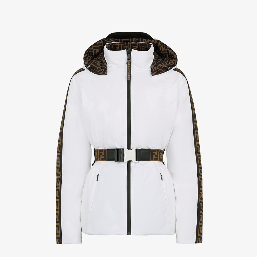 FENDI SKI JACKET - Ski jacket in white tech nylon - view 1 detail