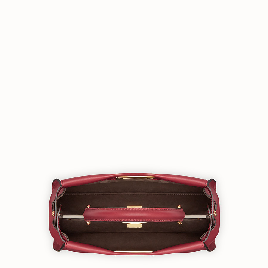 FENDI PEEKABOO REGULAR - Red leather bag - view 4 detail