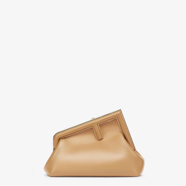 FENDI FENDI FIRST SMALL - Beige leather bag - view 1 detail