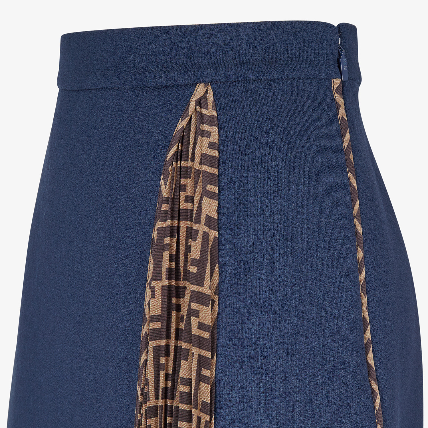 FENDI SKIRT - Blue wool skirt - view 3 detail