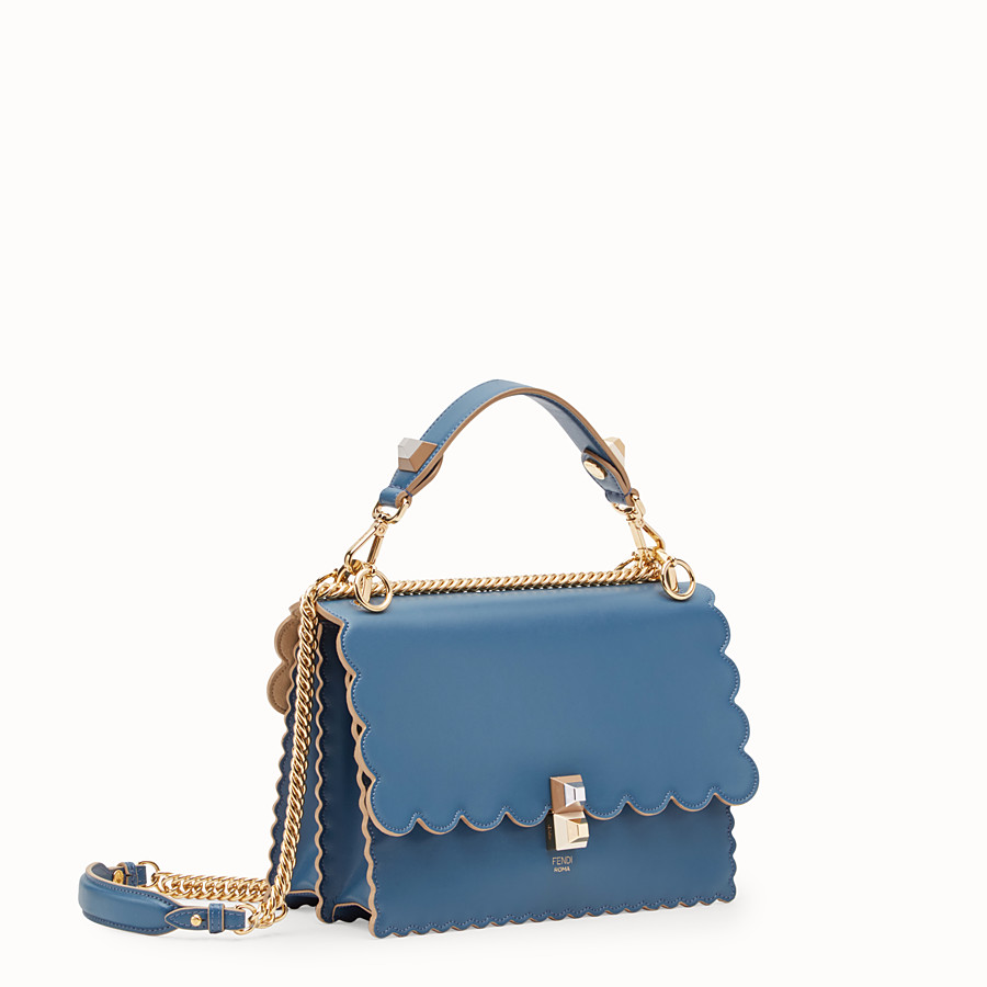 FENDI KAN I - Blue leather bag - view 2 detail
