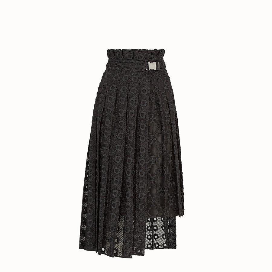 FENDI SKIRT - Black organza skirt - view 1 detail
