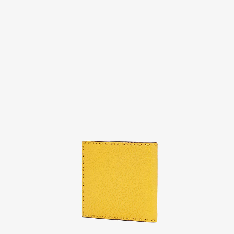 FENDI WALLET - Yellow leather bi-fold wallet - view 2 detail