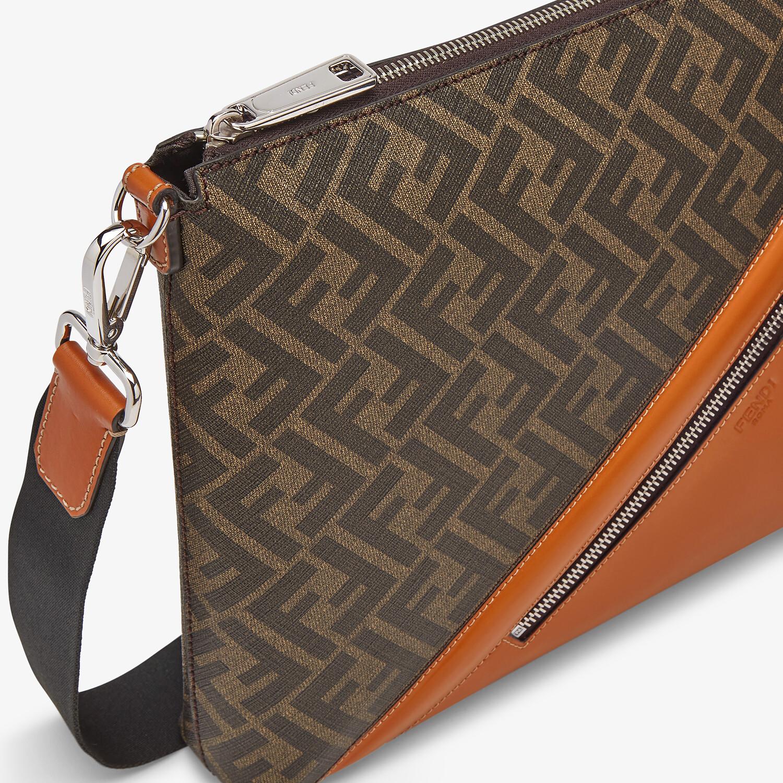 FENDI MESSENGER - Brown fabric bag - view 5 detail
