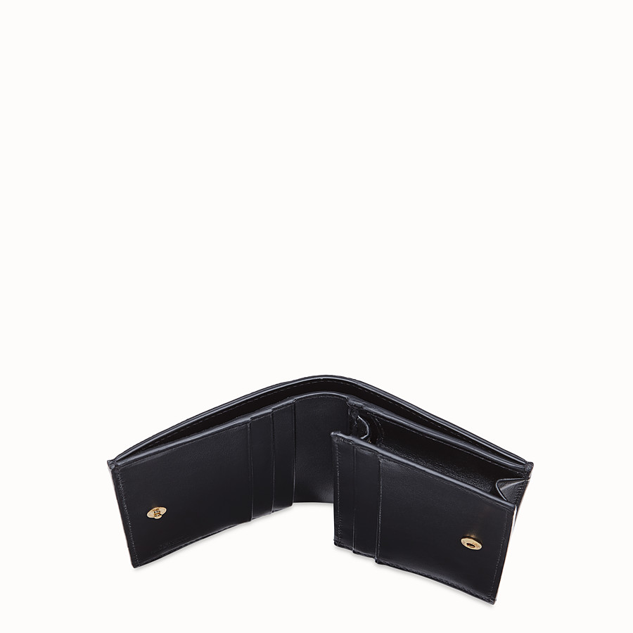 FENDI SMALL WALLET - Brown leather wallet - view 4 detail
