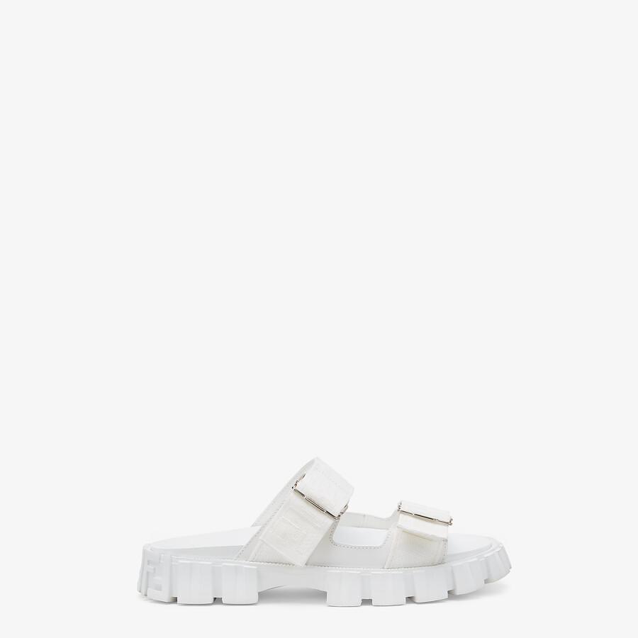 FENDI SANDALS - White fabric sandals - view 1 detail