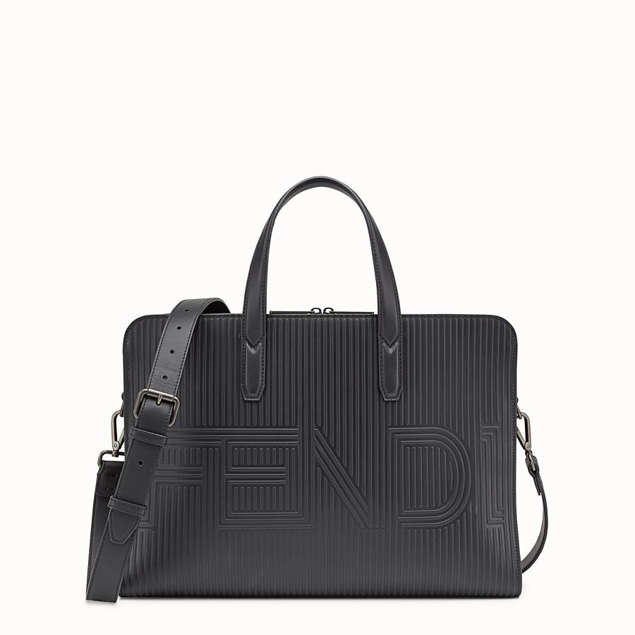FENDI DOCUMENT HOLDER - Black leather bag - view 1 detail