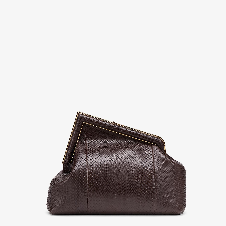 FENDI FENDI FIRST MEDIUM - Dark brown python leather bag - view 3 detail