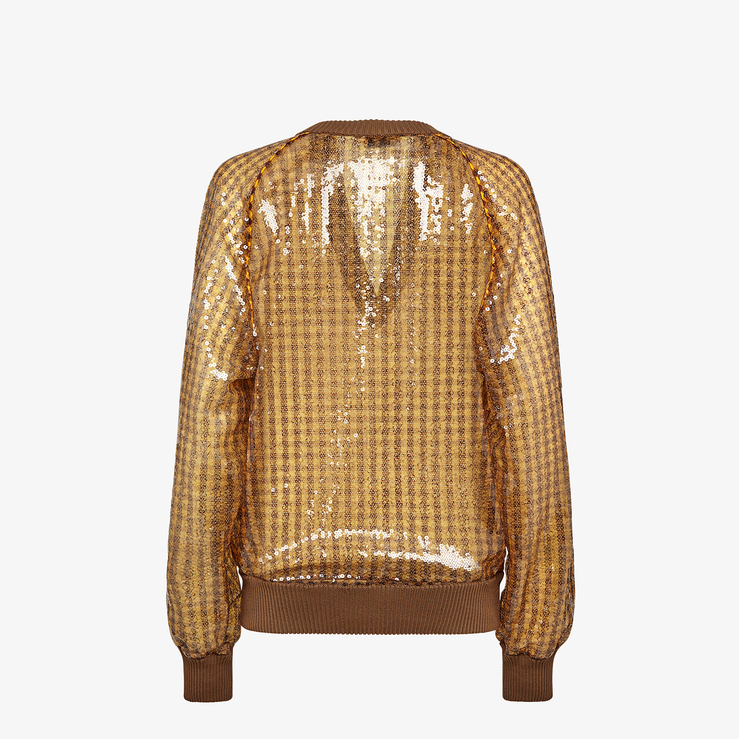 FENDI JUMPER - Vichy sequin pullover - view 2 detail