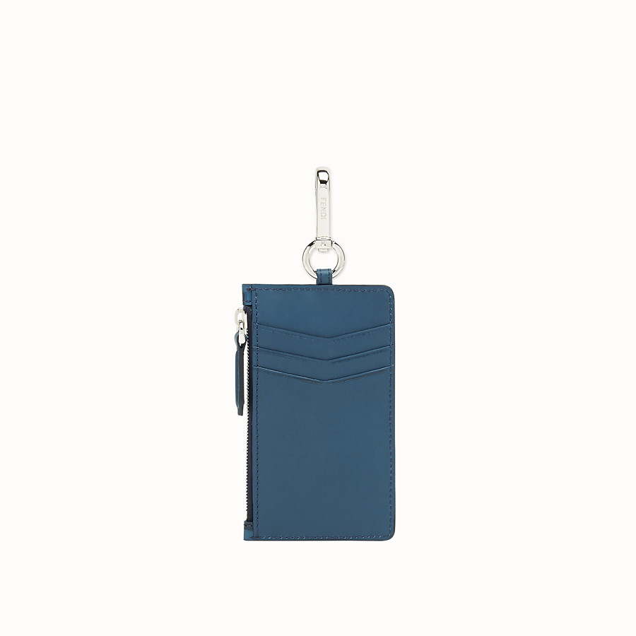 FENDI KEY RING - Blue leather card holder - view 2 detail