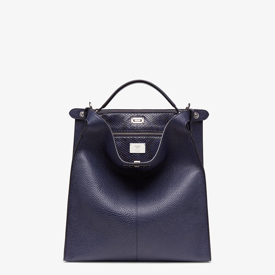 FENDI PEEKABOO X-LITE FIT - Blue calf leather bag - view 2 detail