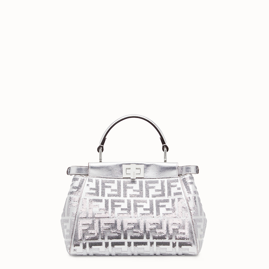 FENDI PEEKABOO ICONIC MINI - Borsa Fendi Prints On in pelle - vista 3 dettaglio