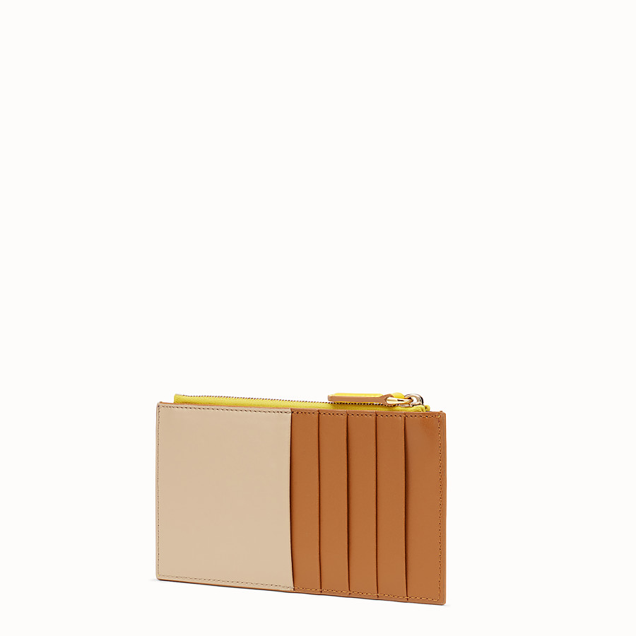 FENDI CARD POUCH - Multicolour leather pouch - view 2 detail