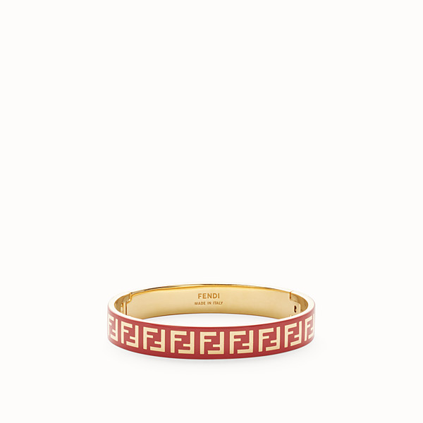 FENDI FF BRACELET - Gold and red coloured bracelet - view 1 small thumbnail