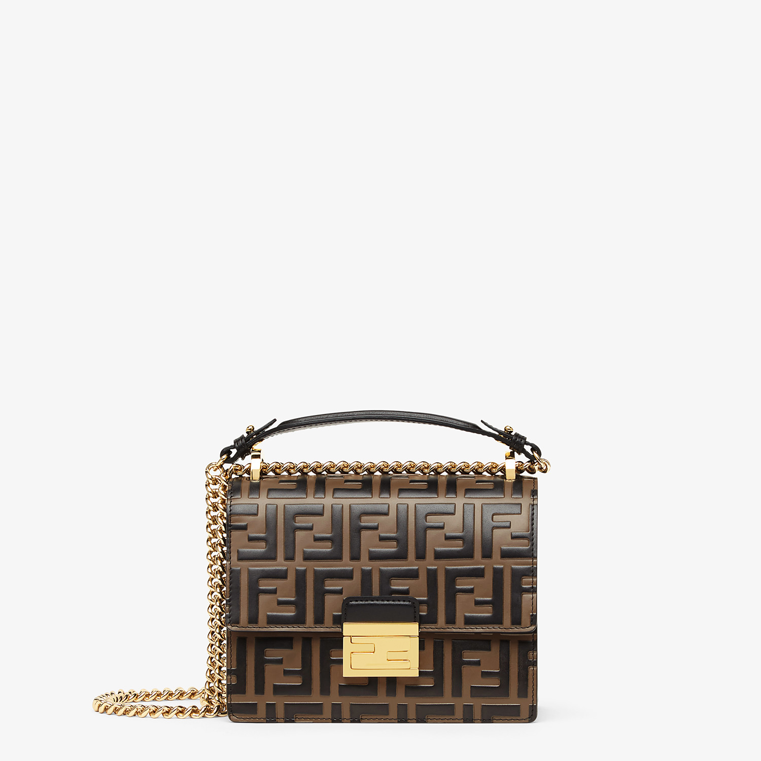 FENDI KAN U SMALL - Brown leather mini-bag - view 1 detail
