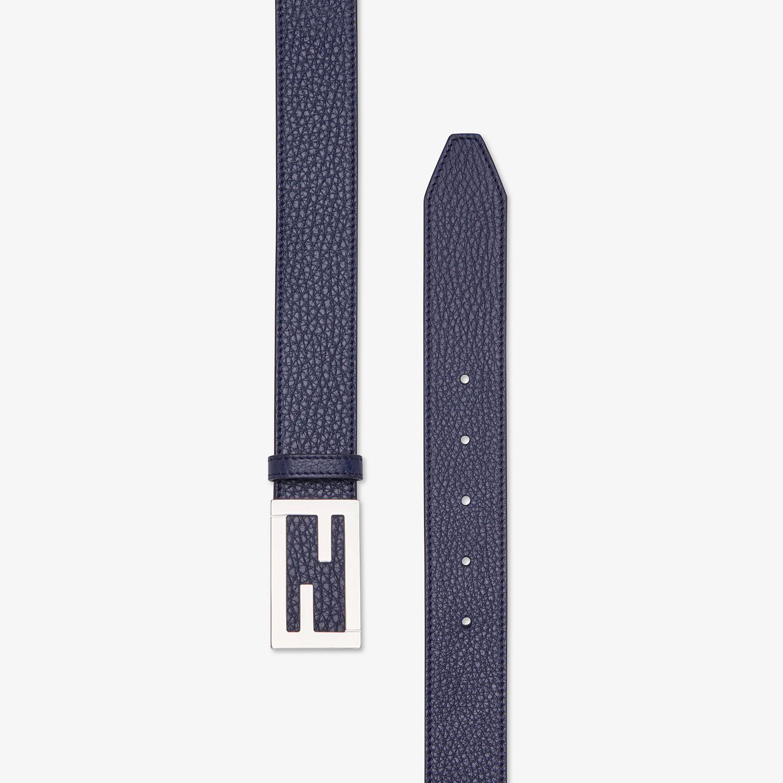 FENDI BELT - Blue leather belt - view 2 detail