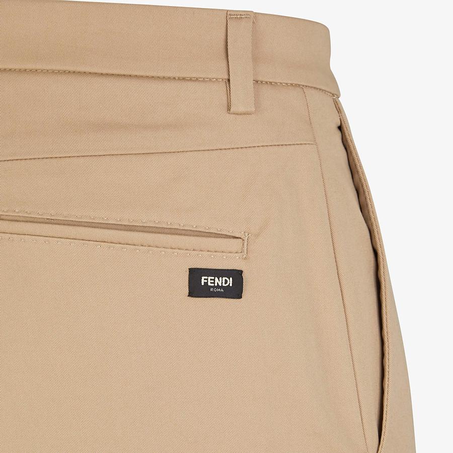 FENDI HOSE - Hose aus Baumwolle in Grau - view 3 detail