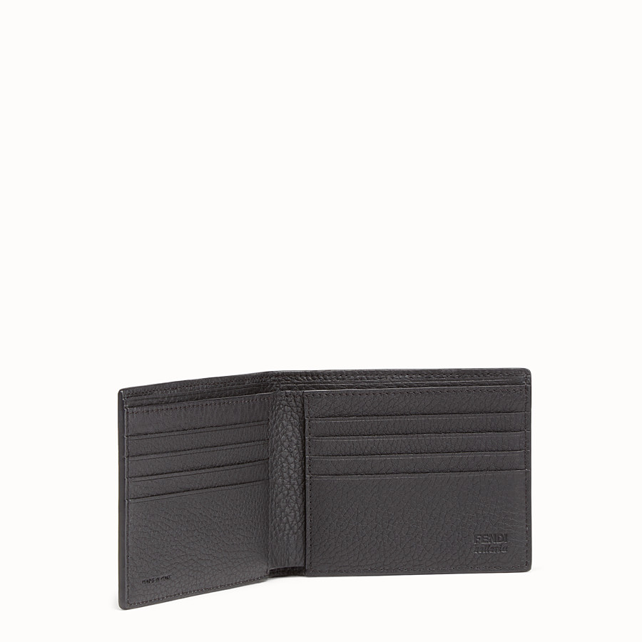 FENDI WALLET - Horizontal in Roman leather with metallic stitching - view 3 detail