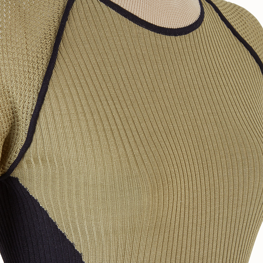 FENDI PULLOVER - Green silk jumper - view 3 detail