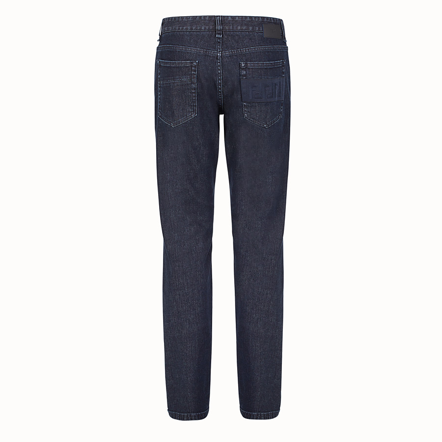 FENDI DENIM - Blue cotton jeans - view 2 detail