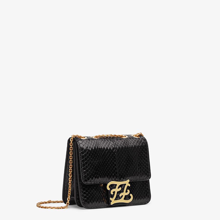 FENDI KARLIGRAPHY - Black elaphe bag - view 3 detail