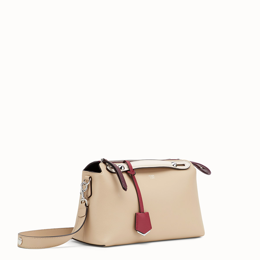 FENDI BY THE WAY REGULAR - Beige leather Boston bag - view 2 detail