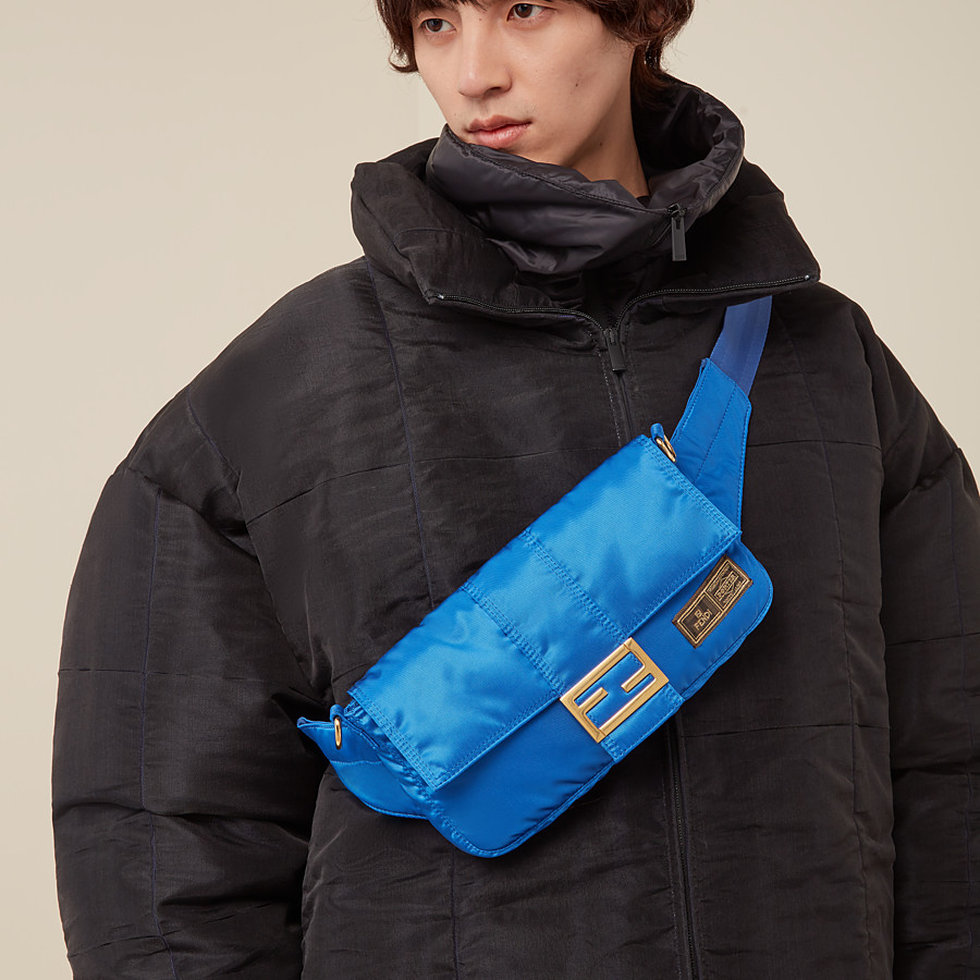 FENDI BAGUETTE FENDI AND PORTER - Blue nylon bag - view 6 detail