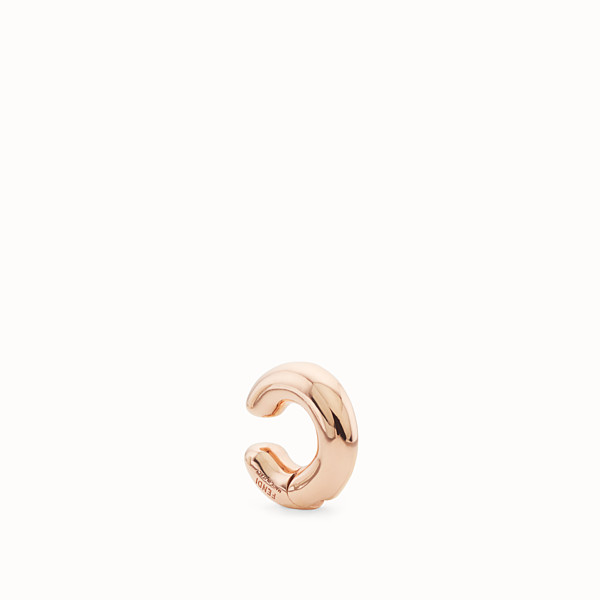 FENDI FENDIOOPS EARRING - Rose-gold-coloured earring - view 1 small thumbnail