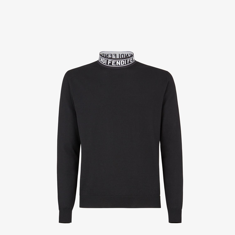FENDI LUPETTO - Maglia in lana nera - vista 1 dettaglio