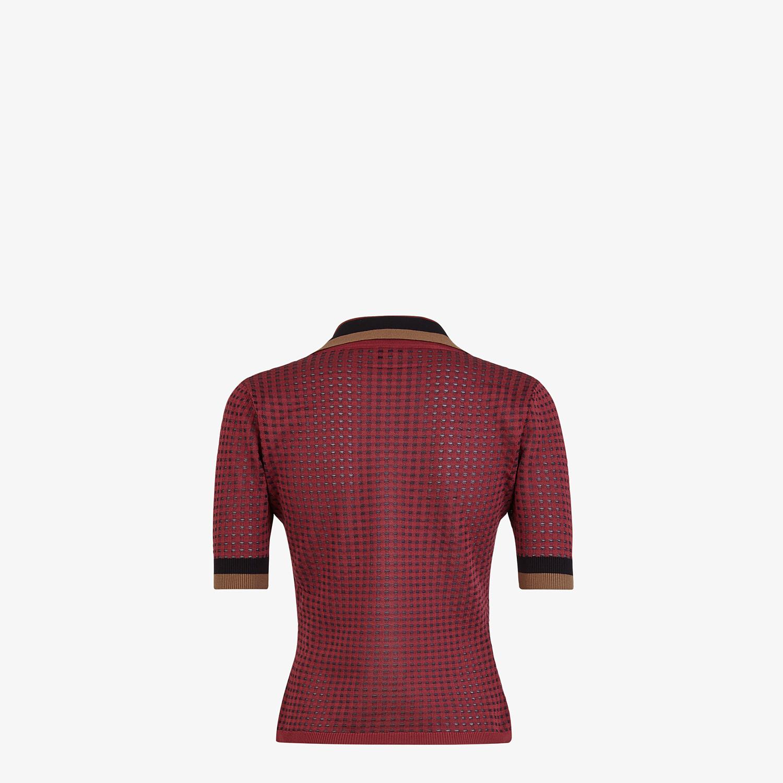 FENDI POLO SHIRT - Check silk polo shirt - view 2 detail