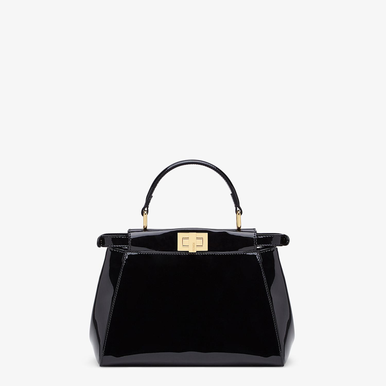 FENDI PEEKABOO ICONIC MINI - Black patent leather bag - view 4 detail