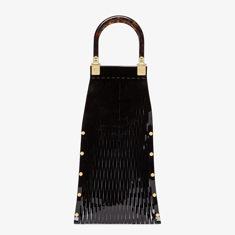 FENDI FENDI SUNNY - Black patent leather shopper - view 3 detail