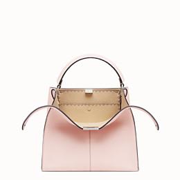 FENDI PEEKABOO X-LITE MEDIUM - Pink leather bag - view 1 thumbnail