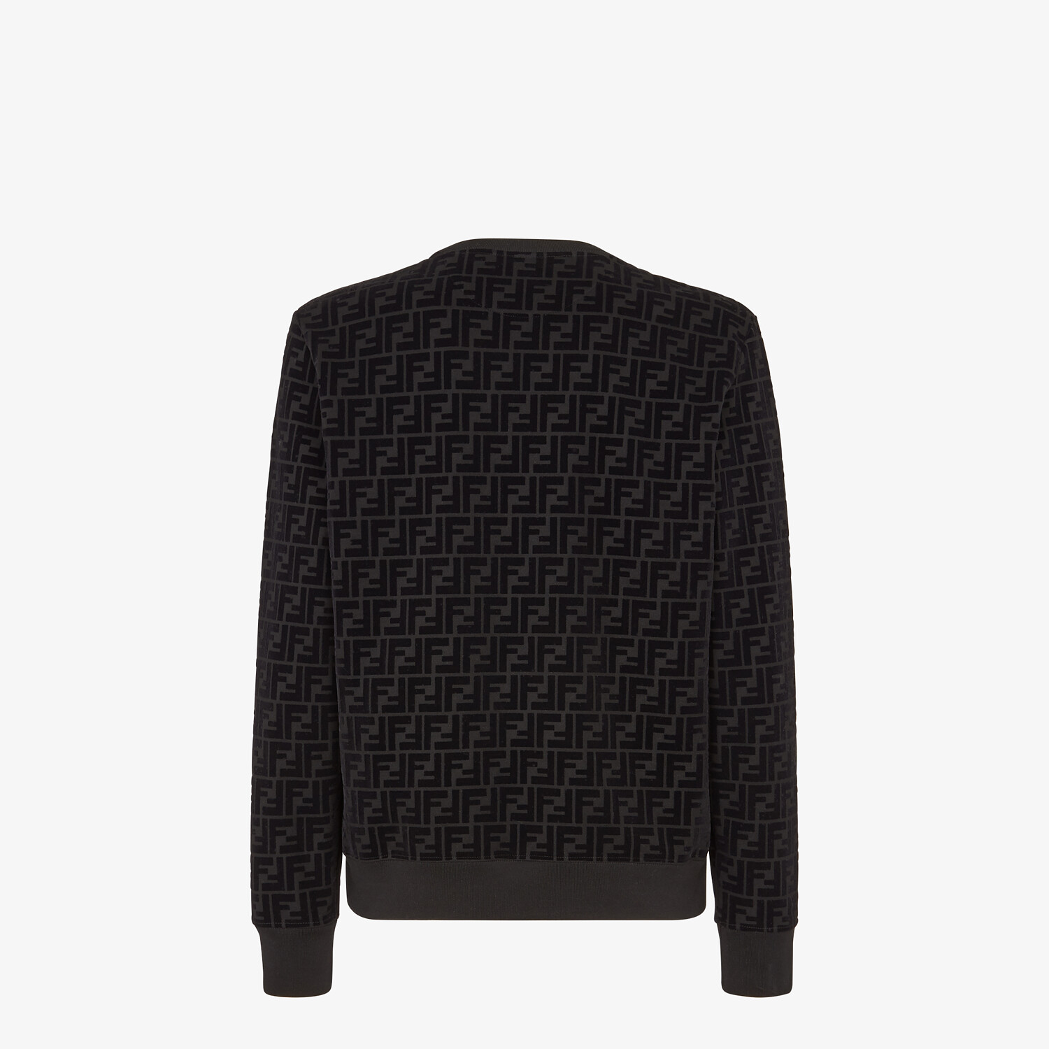FENDI SWEATSHIRT - Black piqué sweatshirt - view 2 detail
